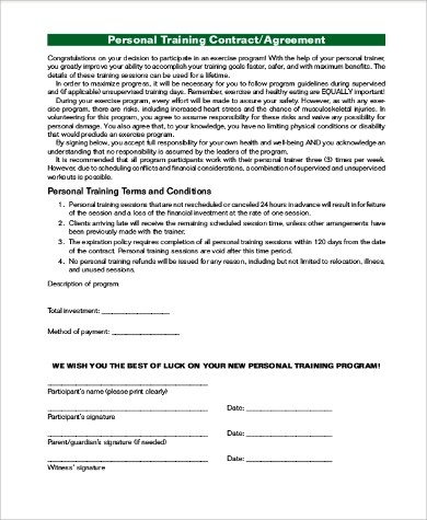 Sample Contract Agreement - 10+ Examples in PDF, Word - contract agreement format