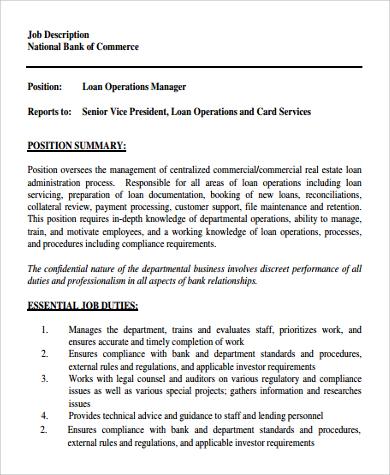 Amazing Sample Operation Manager Job Description   9+ Examples In PDF, Word   Operation  Manager