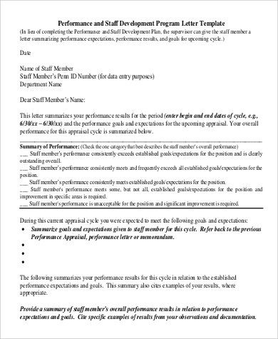 10+ Performance Evaluation Examples Sample Templates - performance evaluation letter