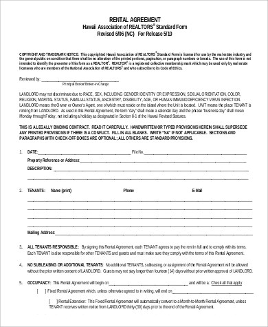 Sample Rental Agreements Month to Month - 10+ Examples in PDF, Word