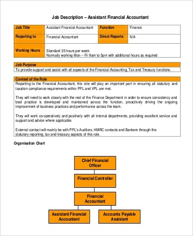 9+ Sample Accounting Assistant Job Descriptions Sample Templates - Accounting Job Titles