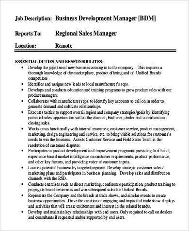 Development Director Job Description colbro