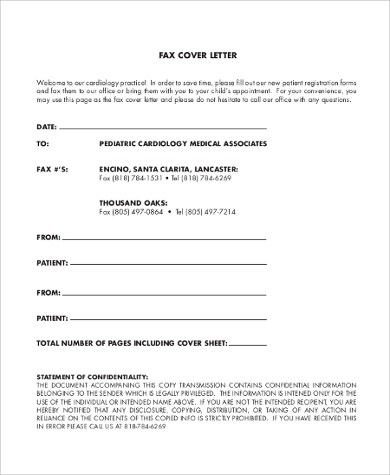 Fax Cover Letter Sample - 9+ Examples in PDF, Word - fax cover letters