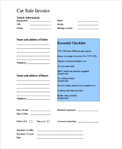 9+ Free Printable Invoice Samples Sample Templates - printable sales invoice