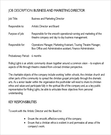 It Director Job Description Sample Manager Job Description Sample - it director job description