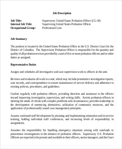 Parole Officer Sample Resume  NodeCvresumePaasproviderCom
