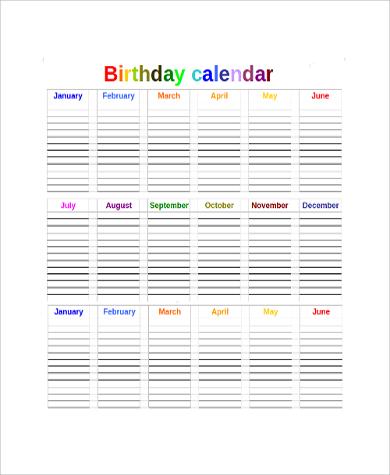 Sample Printable Yearly Calendar - 9+ Examples in Word, PDF