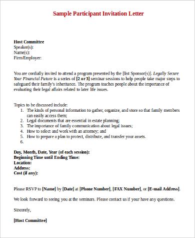 Sample Invitation Letter - 9+ Examples in PDF, Word - invitation letter sample