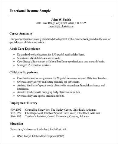 New Functional Resume Template Pdf Template for Functional Resume - Functional Resume Template Pdf