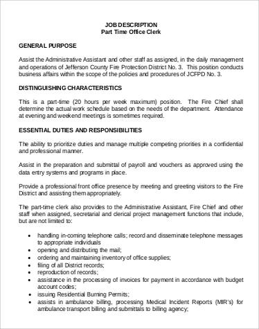 payroll assistant job description