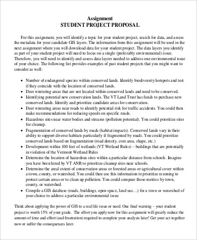 Project Proposal Example - 18+ Samples in Word, PDF
