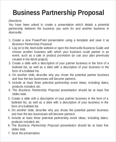 Business Proposal Sample - 16+ Examples in Word, PDF