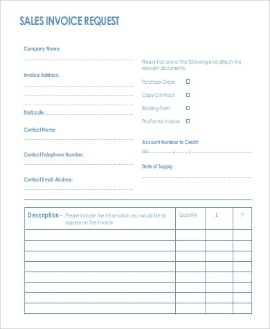 Sample Sales Invoice - 9+ Examples in Word, PDF - sales invoices