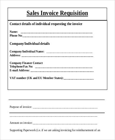 sample of sales invoice