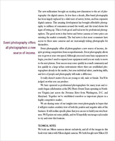 Sample Photography Business Plan - 6+ Examples in Word, PDF