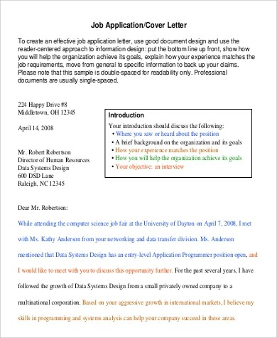9+ Sample Short Cover Letters Sample Templates