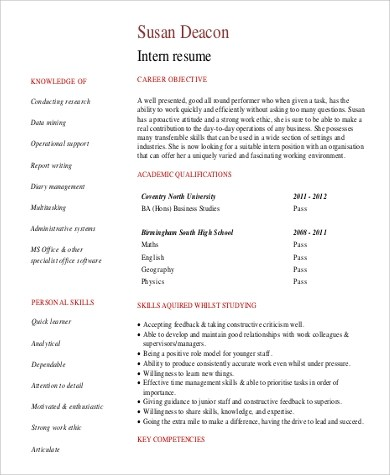 Sample General Objective for Resume - 7+ Examples in PDF - resume general objective