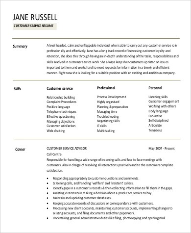9+ Professional Summary for Resume Samples Sample Templates