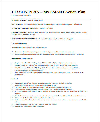 Smart Action Plan Template Images - Template Design Ideas - sample smart action plan
