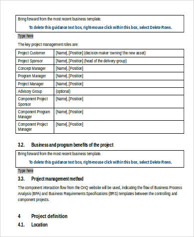 Business Requirement Sample Document - 9+ Examples in Word