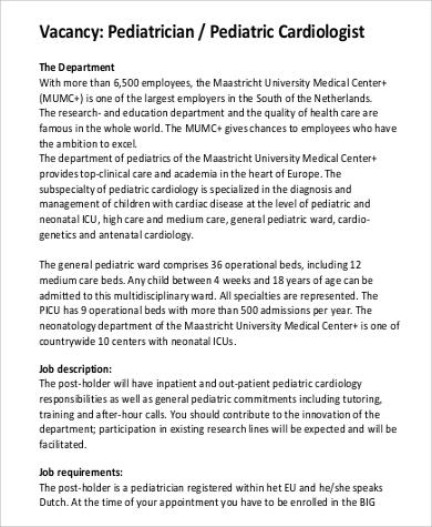 Cardiologist Resume  NodeCvresumePaasproviderCom
