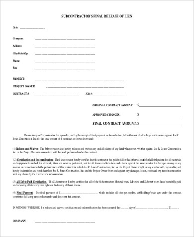 Lien release form for construction work  Ice age 4 movie online