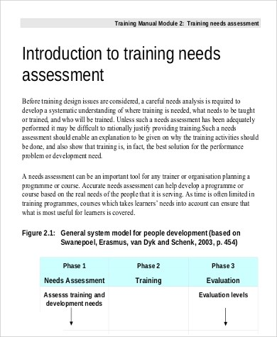 9+ Needs Assessment Examples Sample Templates - needs assessment example