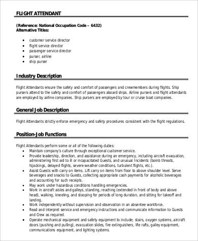 flight attendant job description - Boatjeremyeaton