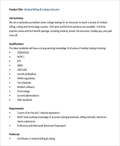 Job Description For Medical Billing. Medical Billing Coding Jobs .