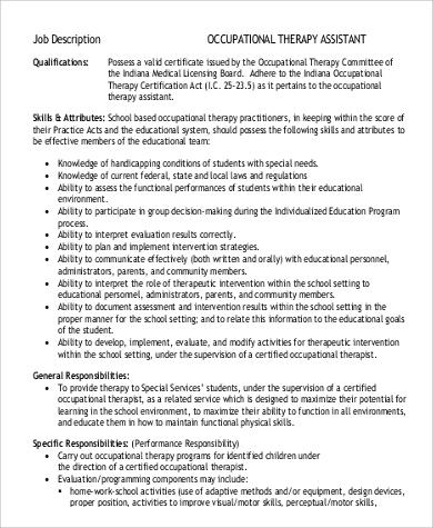 occupational therapy description - Teacheng - occupational therapist job description