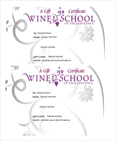 9+ Sample Printable Gift Certificates Sample Templates - Printable Blank Gift Certificates
