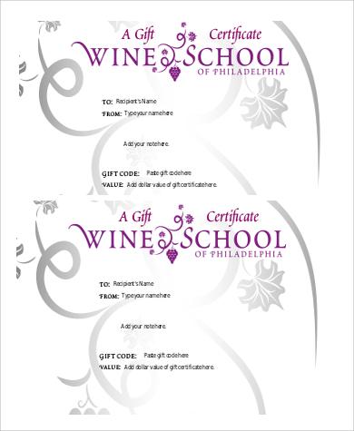 9+ Sample Printable Gift Certificates Sample Templates