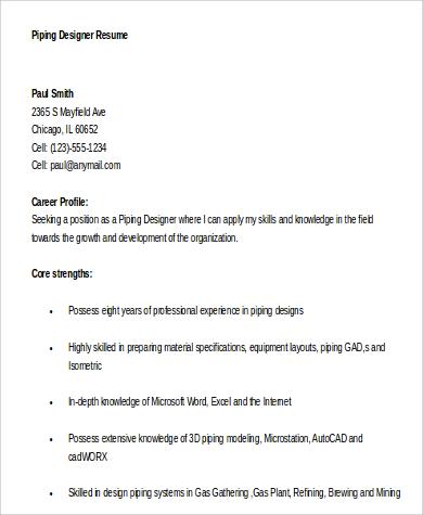 Designer Resume Sample - 6+ Examples in Word, PDF