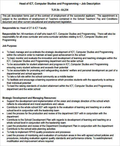 11+ Computer Programmer Job Description Samples, Examples, Templates