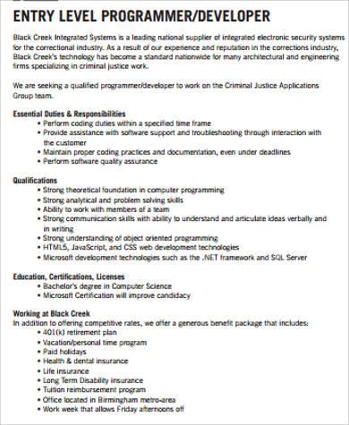 Computer Programmer Job Descriptions  Design Templates