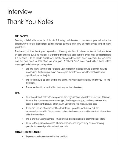 9+ Sample Printable Thank You Notes Sample Templates - printable thank you note
