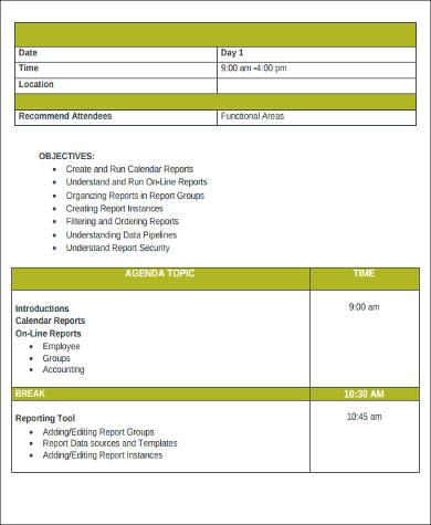 9+ Agenda Format Samples Sample Templates