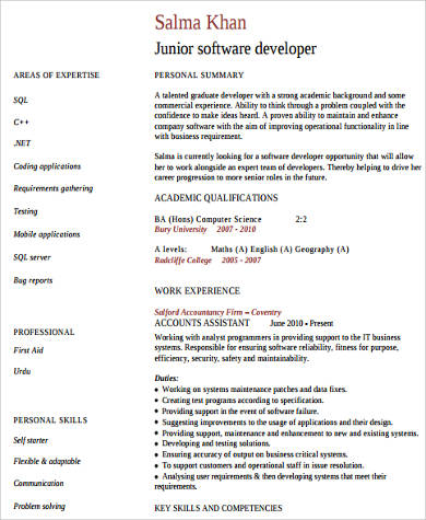 Sample Technical Skills Resume - 10+ Examples in Word, PDF