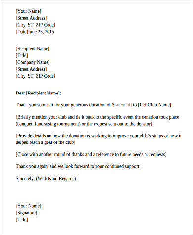 9+ Sample Fundraising Letters Sample Templates