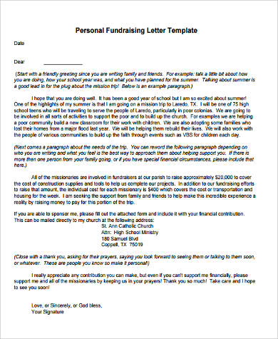Sample Fundraising Letter - 8+ Examples in Word, PDF