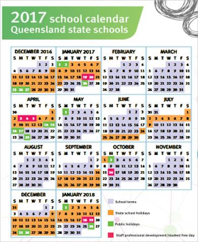 Sample School Calendar - 9+ Examples in Word, PDF