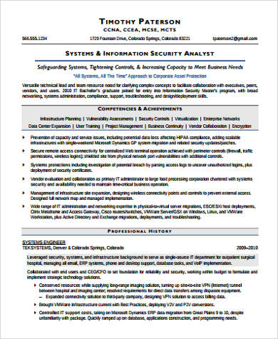 Sample Security Resume - 9+ Examples in Word, PDF