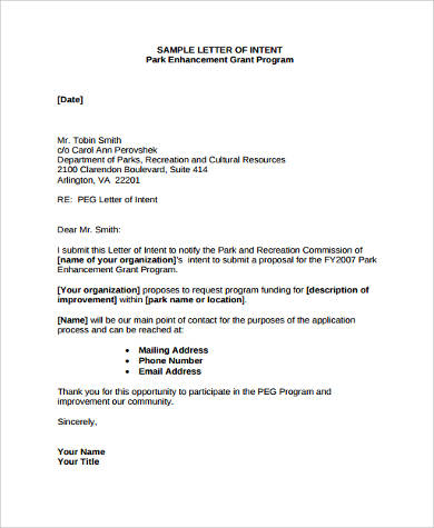 Sample Letter of Intent Format - 9+ Examples in Word, PDF - sample pharmacy residency letter of intent