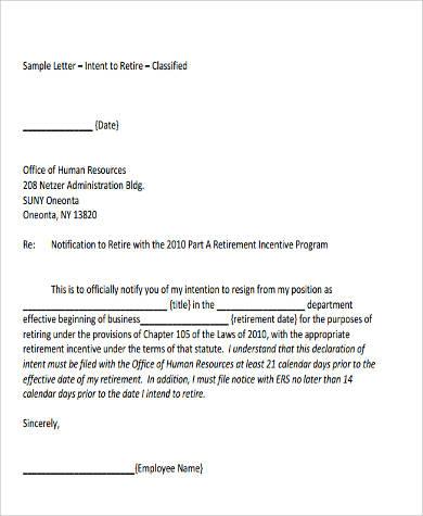 9+ Letter of Intent Format Samples Sample Templates