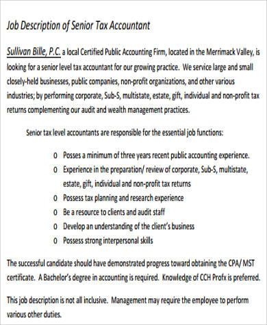 Staff Accountant Job Description getcontagio