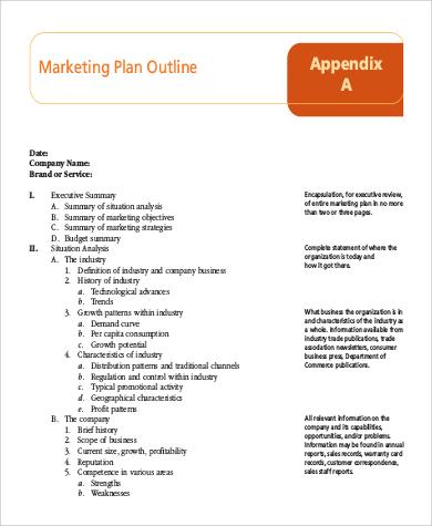 Sample Marketing Plan Outline - 14+ Examples in Word, PDF - marketing plan pdf