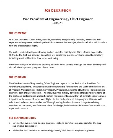 Chief Engineer Job Description - Seaman Job Solution Marine