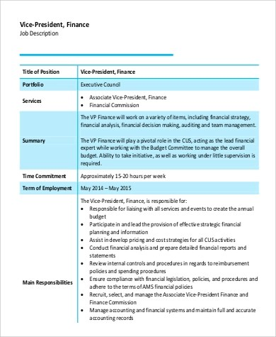 Vice President Job Description Photos \u003e\u003e Vp Of Sales Job Description - vice president job description