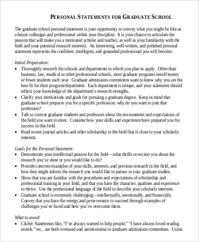 Sample Personal History Statement - 7+ Examples in Word, PDF