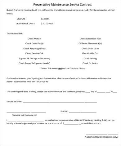 Residential Service Contract Cleaning Service Agreement Template